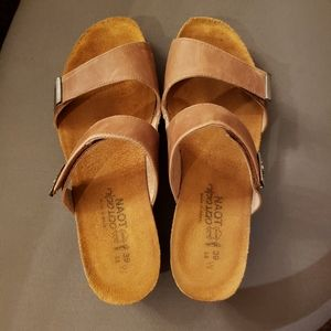Naot slip on sandals size 39